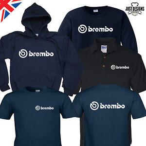 Brembo Navy T-shirt Hoodie Hoody Polo Shirt Jumper Vest S-5XL Performance Brakes