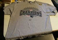 000 VTG 2003 AFC Champions New England Patroits Shirt Large Reebok Super Bowl