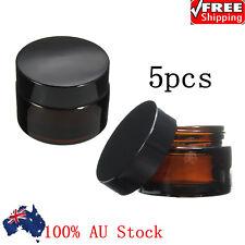 Amber 5pc Glass Jars Wadded Lid Creams 30g Bottle