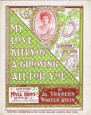 My Love Keeps On A Growing All For You, Fern Melrose Photo, vintage sheet music