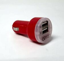 Durable DUAL-USB-CC-RED Dual Port USB Plug In Car Small Charger 12V 5V Output