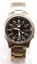 SEIKO 5 SNK809K1 Stainless Steel Band Automatic Men's Black Watch 100% New