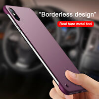 For iPhone XR XS Max 8 7 6 Case Ultra Slim Frameless Matte Shockproof Hard Cover