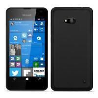 Dünn Slim Cover Microsoft Lumia 550 Handy Hülle Silikon Case Schutz Tasche