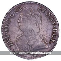 FRANCE - Louis XV - 1/2 Ecu 1733 T NANTES - R3