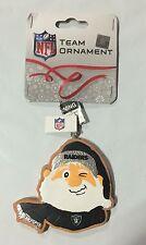 Oakland Raiders Gingerbread Winking SANTA Christmas Tree Holiday Ornament