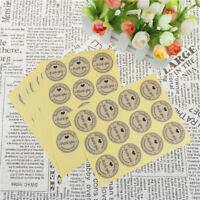120x Gracias Kraft Sello de Pegatinas Papel para Embalaje Galletas Regalo  Np