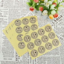120X Thank you Kraft Seal Stickers Paper Label for DIY Gift Cookie Packaging_BC