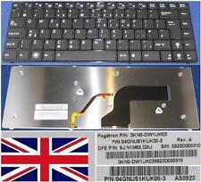 Clavier Qwerty UK ASUS U80 0KN0-DW1UK03 9J.N1M82.G0U 04GNS1KUK00-3 Noir BACKLIT