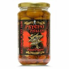 Dr Burnorium 450g Jar Psycho Pickled Onions & Ghost Chilli Peppers Naga Jolokia