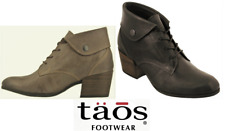Ankle Lace up Heel Boots Leather  - Taos Shoes Scribe