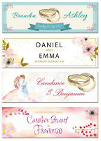 2 personalised wedding engagement banner any celebration party decoration poster