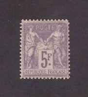 France stamp #96, MHOG, VF - VVF, 5 fr,   1877 - 80, SCV $440.00