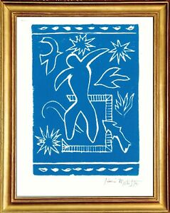 "Henri Matisse Hand Signed Ltd Edition Print ""Joyful Man"" with COA (unframed)"