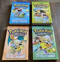 RARE Pokemon Adventures Volume 4 Books Vol. 1,3,5,6 Viz Media Paperback BOOK LOT