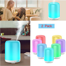 2PCS/Set LED RGB Smart Home Ultrasonic Aroma Essential Oil Diffuser Air Purifier