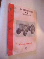 Vintage Owner'S Manual For Massey Ferguson Mf 35 Diesel Tractor