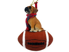 Puggle Dog Football Sports Figurine Ornament