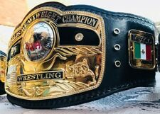 NWA DOMED GLOBE WORLD TITLE BELT IN 4MM ZINC & ORIGINAL 24k GOLD PLATED!!