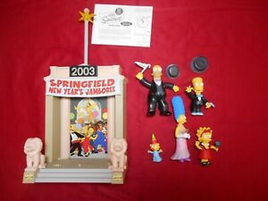 The Simpsons 2003 Springfield New Year's Jamboree Playmates 5 Figures Complete