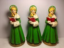Vtg. Set of 3 Christmas Carolers Ardco Japan