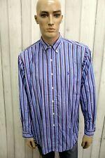 RALPH LAUREN Camicia Taglia XL Cotone Uomo Chemise Shirt Casual Manica Lunga