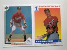 2-1991-92 CHIPPER JONES ROOKIE CARDS