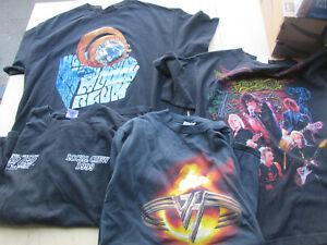 Van Halen -Moody Blues-Bad Company-Aerosmith  4  Concert T Shirts  Original