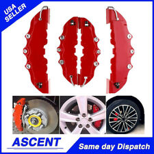 4x RED 3D Style Universal Disc Brake Stop Caliper Covers Front & Rear Cover Kit