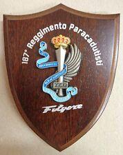 """Mini-Crest / Fermacarte """"187° REGGIMENTO PARACADUTISTI FOLGORE"""" - (Rarità)"""