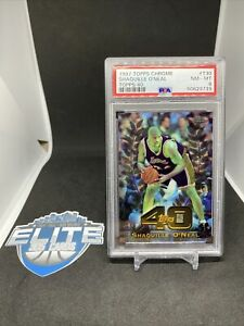 🔥 1997 Topps Chrome 40 #T30 Shaquille O'Neal PSA 8 NM LAKERS 🔥