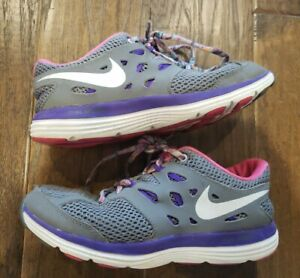 Girls Hot Pink & Gray Nike Sneakers Athletic Shoes Size 4 Y