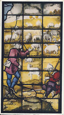 Postcard UK Cambridge King's College Chapel Stained Glass Window Shepherds 1951