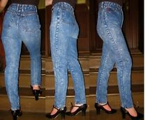 1ac0e2411e 27 30 VTG 80s acid wash TIGHT ultra HIGH WAIST DENIM SKINNY supermodel jeans