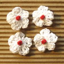 """US SELLER - 60 pcs x 3/4"""" Hand Crochet Cotton Spring Flower Appliques ST196W1"""