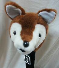 350cc Golf Club Animal Wood HeadCover, FOX, Fit Regular Driver & Fairway Woods