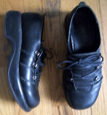 Ladies Black Dansko Wedge Heels Casual Shoes size 39 EUR 8.5 US