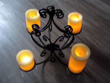 Kronleuchter wandelbar zu 2 Wandhaltern+4 Led Timer Kerzen (Flambiance/Elambia)
