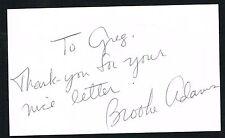 Brooke Adams signed autograph auto 3x5 index card Hollywood Actress