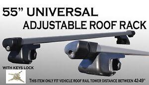x2 135cm Crossbars Side Railing Aluminum Roof Rack Utility with Locks Keys W32