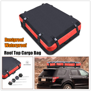 1×Car Cargo Waterproof Roof Top Carrier Bag Rack Storage Luggage For Chevry Jeep