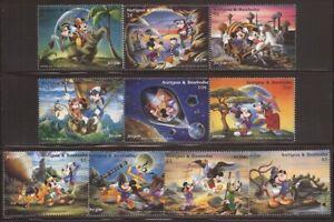 Antigua - 1996 Disney Characters in Jules Verne Novels - 10 Stamp Set #1987-96