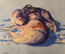 Fred Machetanz, First Day in Harness, S/N LE Lithograph, Hand Signed by Artist