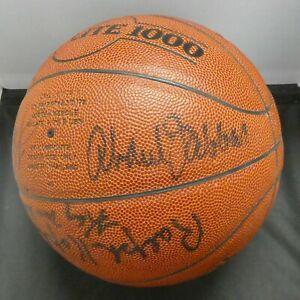 2000 NYC Hoops HOF Class Kareem Abdul Jabbar Signed Ball 9 Autos Full JSA Letter