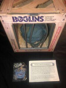 BOGLINS boxed vlobb Figure Hand Puppet Mattel 80s Vintage Plunk Dwork Large Cage