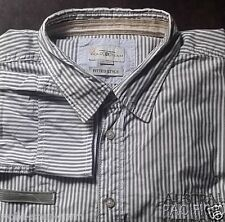 Tom Tailor Fitted Style Shirt Long Sleeve KW47/48 Size gr.3xl Grey Striped BW