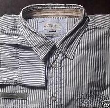 Tom Tailor Ajustado Estilo Camisa manga larga kw47/48 Talla gr.3xl gris de rayas