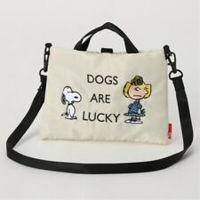 PEANUTS SNOOPY 2Way Mini Shoulder Bag Purse Handbag Sacoche Pouch Japan E7015