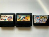 Lot3 Nintendo Famicom Shin Moero!! Pro Yakyuu baseball set JAPAN NES JP