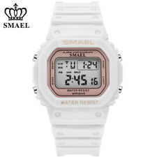 SMAEL Women Sport Watches for Students Boys Girls Digital Wristwatch White Watch